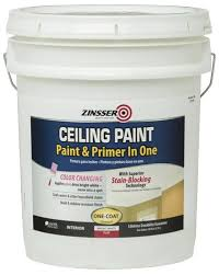 ceiling white paintZinsser Flat Bright White Ceiling Paint and Primer  5 gal at