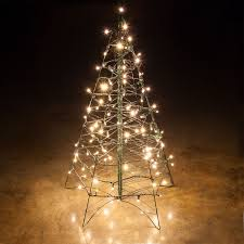 White Lighted Christmas Trees Outdoors Lighted Warm White Led Outdoor Christmas Tree Led Outdoor