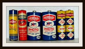 Lot Vintage Batteries Eveready Ray O Vac By