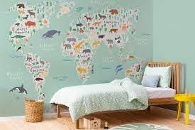 Kids Safari Map Wallpaper Mural