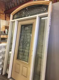 Custom  Exterior Door W Sidelights  Transom Window  Star - Exterior transom window