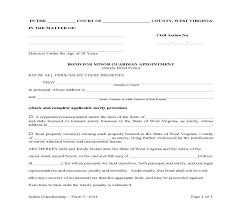 surety bond form for minor guardian appointment surety bond form 5 pdf fpdf doc