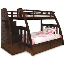 twin over full bunk bed with stairs. Canwood Ridgeline Twin Over Full Bunk Bed With Built In Stairs Drawers, Espresso E
