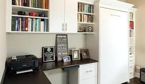 Murphy bed office Double Bed Turns Office Into Bedroom For Homeowner Murphy Desk System Wall Home Systems Interior Living Ideas Free Murphy Bed Office Interior Living Ideas Free