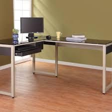 modern glass l shaped computer desk designs room desks what do diffe colors mean