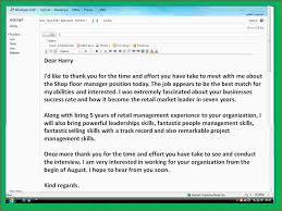 5 Thank You Email After Job Interview Ganttchart Template