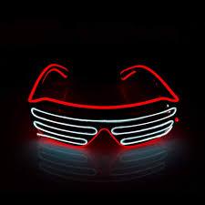 Neon Light Glasses Amazon Com Etsp 2 Pairs Double Color Neon Light Up Glasses