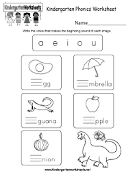 Kindergartners, teachers, and parents who homeschool their kids can print, download, or use the free kindergarten english worksheets online. Free Kindergarten Phonics Worksheets Connecting Spoken Words With Letters