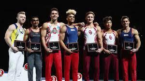 Olympic gymnastics podium begins ...