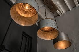 rustic industrial lighting. items similar to galvanized light rustic industrial lighting home bar restaurant ceiling modern on etsy