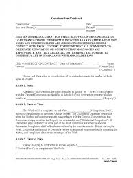 Free Construction Contract Agreement Template Lobo Black