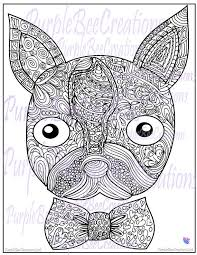 Small Picture Boston Terrier Dog Coloring Page by PurpleBeeCreations on Etsy