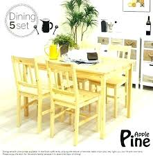 round pine dining table small kitchen sets size room square for 8