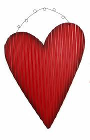 rustic red tin corrugated metal hearts hanging ornaments valentines day wall decorations on red metal heart wall art with rustic red tin corrugated metal hearts hanging ornaments