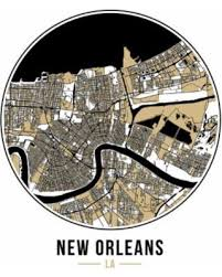 new orleans football circle city map 12x12 matte poster print wall art on map of new orleans wall art with amazing deal on new orleans football circle city map 12x12 matte