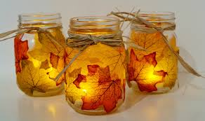 Decorating Candle Jars Wonderful DIY Pretty Leaf Candle Holder 30