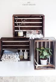 diy crate shelves after a paint