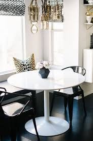 black and white modern chic breakfast nook small dining area home decorations