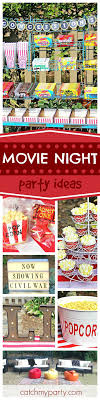 fun party themes for 13 year olds. grab your popcorn and enjoy this great outdoor movie party! the cupcakes are so fun party themes for 13 year olds