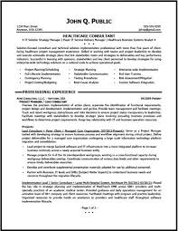 ... Consulting Resume Samples Healthcare Consulting ...