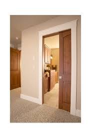 wood doors with white trim