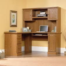 Wooden Corner Desk Hutch