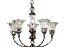 crystal 5 light ceiling pendant chandelier allen roth
