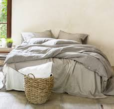 Natural Rough Linen Bed Set | Bed-in-a-bag | Natural Linen ...