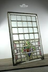 Framed Stained Glass Windows Metal Panel Large Window Nomaddie