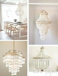 elena wood bead chandelier and eimat co with medium image for enchanting pottery barn 7 bella