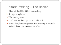 what is an editorial an article that states the newspaper s  4 editorial