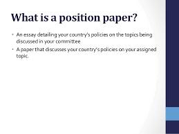 position paper position paper 1 mun preparation 2