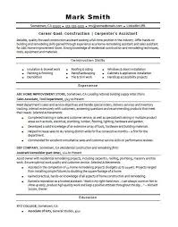 Ad Sales Sample Resume Cool ConstructionCarpenter's Assistant Resume Sample Monster