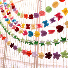 Paper Flower Garland Hanging Party Decoration 3d Paper Flower Garland Paper Tassel Buy Paper Tassel Paper Tassel Garland Tissue Paper Tassel Garland Product On