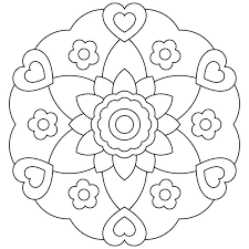 Small Picture Mandala Coloring Pages For Kids Coloring Pages Free Kids