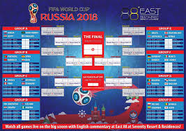 World Cup Planner Chart 2018 2018 Fifa World Cup Russia Live At East 88 Restaurant