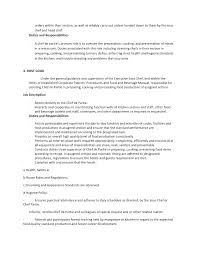 Duties Of A Chef Chef Resume Sample Examples Sous Chef Jobs Free ...