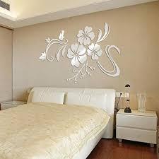 3d wall sticker bokeley 3d acrylic mirrow flower art design stickers wallpaper crafts flowers wall decor art decorations silver