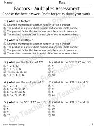 Worksheet Template : Lcm And Gcf Word Problems | Factors And ...