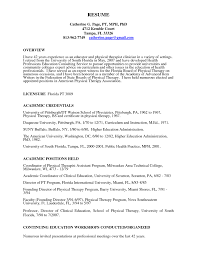 Gorgeous Inspiration Physical Therapy Resume Examples 16 Sample