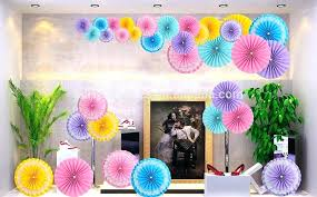 Hanging Paper Flower Backdrop Hanging Paper Fans China Pack Of 6 Colorful Tissue Flower Tissue