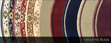 collage of multi colored hearth rugs