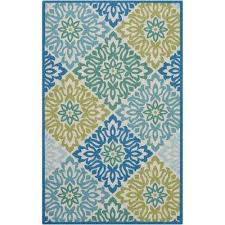 sweet things blue 4 ft x 7 ft indoor outdoor area rug