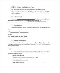 Hipaa Authorization Form Best 48 HIPAA Release Form Samples Free Sample Example Format Download
