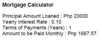 Principal Vs Interest Mortgage Chart Mortgage Calculator In Javascript By Jake R Pomperada