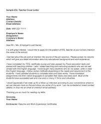 Resume Letter English Esl Teacher Cover Letter Exle Sle Resume For