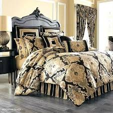 black and ivory ticking bedding gold bedroom queen size comforters comforter tan sets white duvet covers
