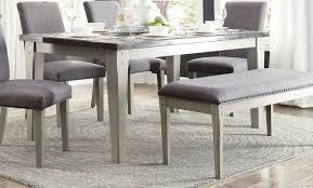 gray dining room furniture. Grey Dining Room Furniture. Homelegance Mendel Table- Bluestone Marble Top - Gray Furniture