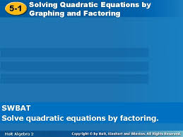 solving quadratic equations by 2 3 5 1