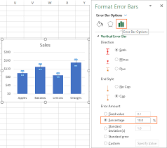How To Insert A Bar Chart In Excel Error Bars In Excel Standard And Custom